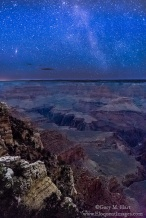 Gary Hart Photography: Starry Night, Mather Point, Grand Canyon