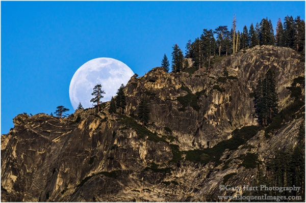 Gary Hart Photography: Ridgetop Moon, Yosemite