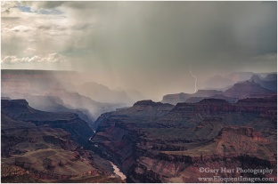 Gary Hart Photography: Thunderstorm, Lipan Point, Grand Canyon