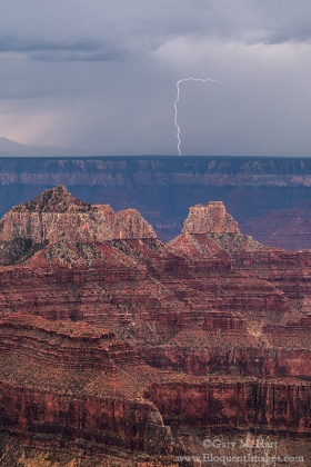 Gary Hart Photography: Bright Angel Lightning, Grand Canyon