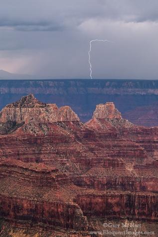 Gary Hart Photography: Bright Angel Lightning, Grand Canyon