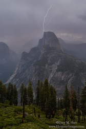 Gary Hart Photography: Half Dome Lightning Strike, Glacier Point, Yosemite