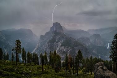 Gary Hart Photography: Half Dome Lightning Strike, Glacier Point, Yosemite