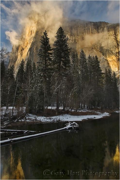 Gary Hart Photography: Warm Light, El Capitan Clearing Storm, Yosemite