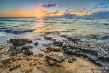 Gary Hart Photography: Sunset on the Rocks, Ke'e Beach, Kauai