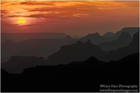 Gary Hart Photography: Smoky Sunset, Desert View, Grand Canyon