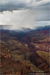 Gary Hart Photography: Lightning Strike, Lipan Point, Grand Canyon