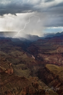 Gary Hart Photography: Diagonal Lightning Strike, Lipan Point, Grand Canyon