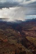 Gary Hart Photography: Diagonal Lightning Strike, Lipan Point, Grand Canyon