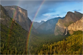 Rainbow, Tunnel View, Yosemite