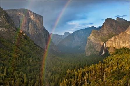 Rainbow, Tunnel View, Yosemite