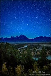 Gary Hart Photography: Teton Night, Snake River Overlook, Grand Tetons National Park