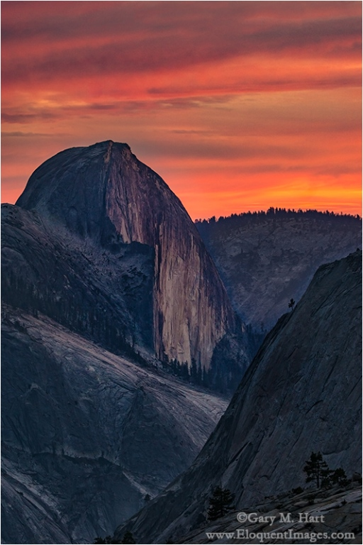 Gary Hart Photography: Half Dome at Sunset, Olmsted Point, Yosemite