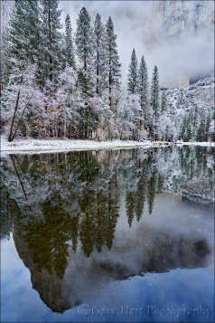 Gary Hart Photography: Winter Storm Reflection, El Capitan, Yosemite