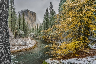 Gary Hart Photography: Autumn Snow, El Capitan, Yosemite