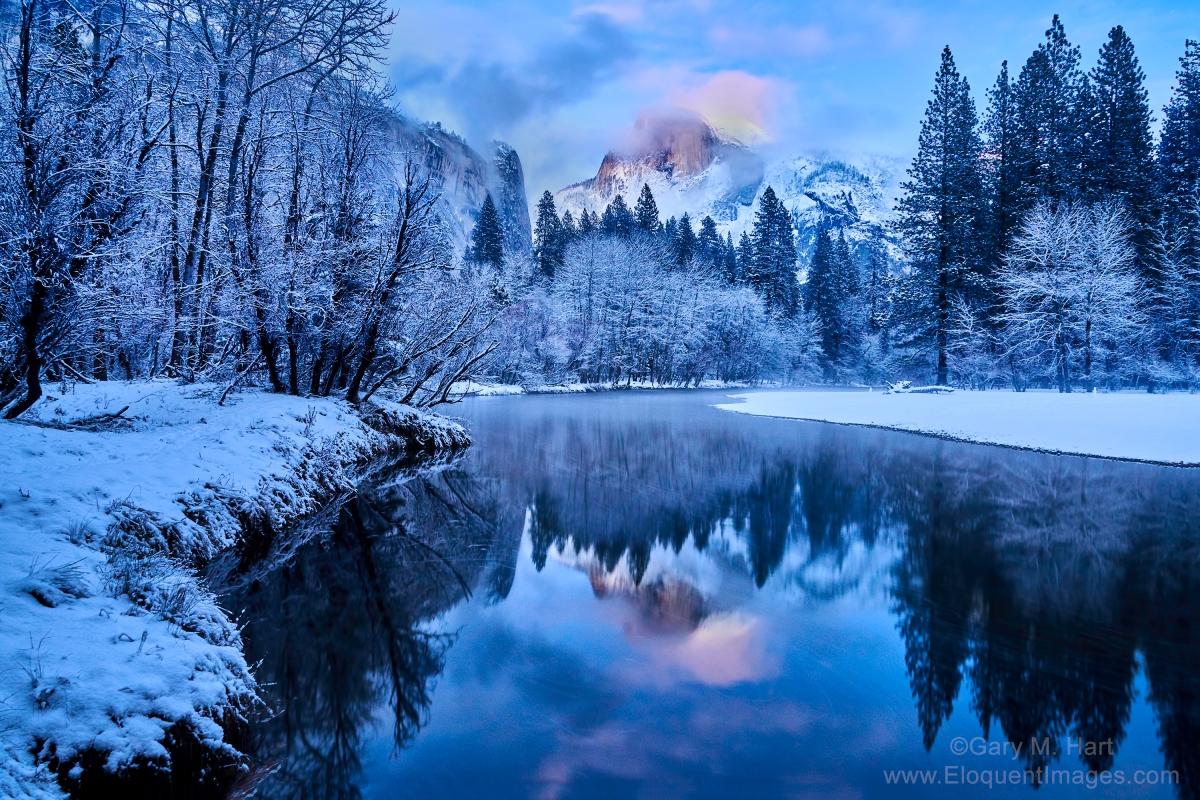 Gary Hart Photography: Twilight Reflection, Half Dome, Yosemite