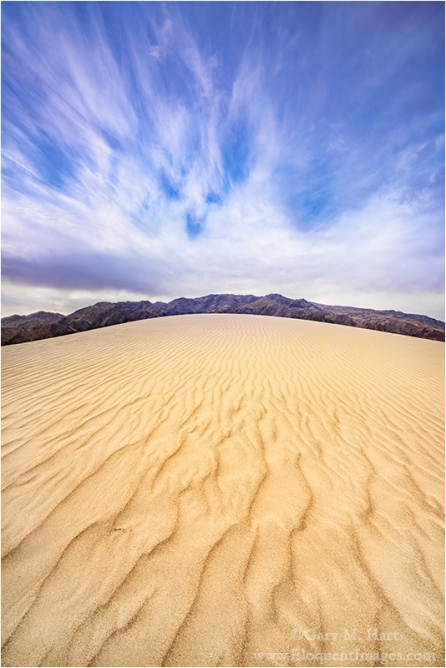Gary Hart Photography: Sand and Sky, Mesquite Flat Dunes, Death Valley