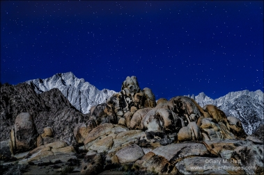 Gary Hart Photography: Mountain Moonlight, Mt. Whitney and Lone Pine Peak, Alabama Hills, California