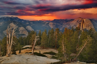 Gary Hart Photography: Sunset Storm, Half Dome from Sentinel Dome, Yosemite