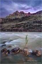 Gary Hart Photography: Nightfall, Colorado River, Grand Canyon