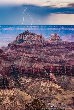 Gary Hart Photography: Forked Lightning, North Rim, Grand Canyon