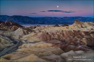 Gary Hart Photography: Winter Moon, Zabriskie Point, Death Valley