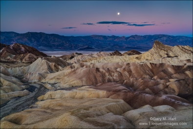Gary Hart Photography: Winter Moon, Zabriskie Point, Death Valley
