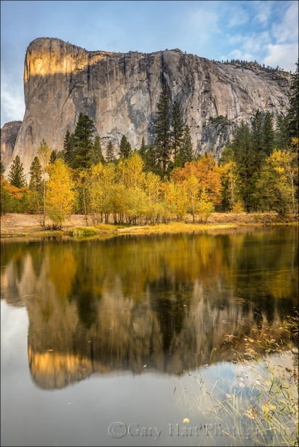Gary Hart Photography: Autumn Morning, El Capitan Reflected in the Merced River, Yosemite