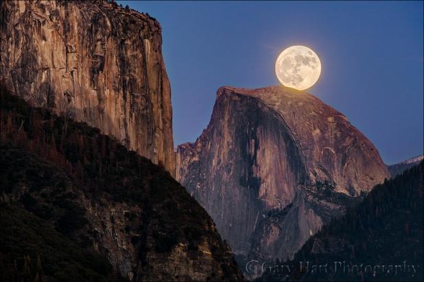 Gary Hart Photography: Supermoon, Half Dome and El Capitan, Yosemite