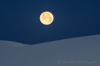 Gary Hart Photography: Dune Moon, White Sands National Monument, New Mexico