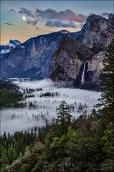 Gary Hart Photography: Sunset Moonrise, Tunnel View, Yosemite