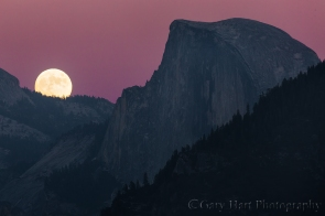 Gary Hart Photography: Moon!, Half Dome, Yosemite