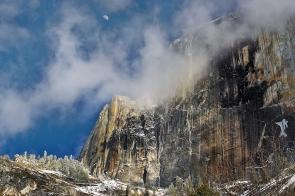 Gary Hart Photography: Half Dome Half Moon, Yosemite