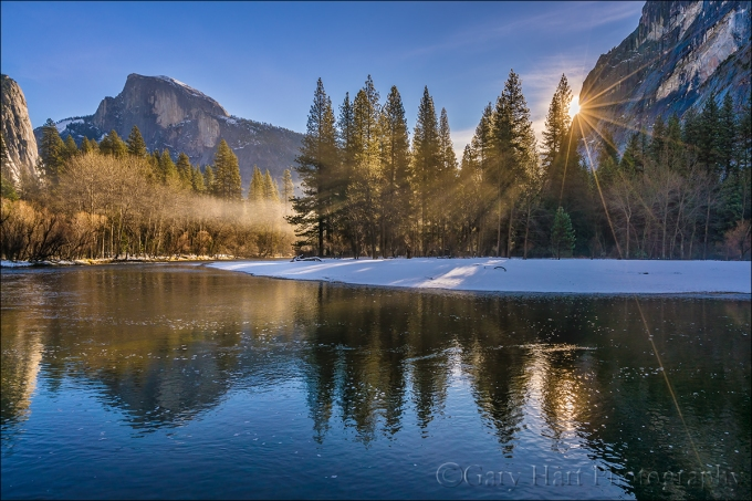 Gary Hart Photographer: Morning Mist, Half Dome, Yosemite