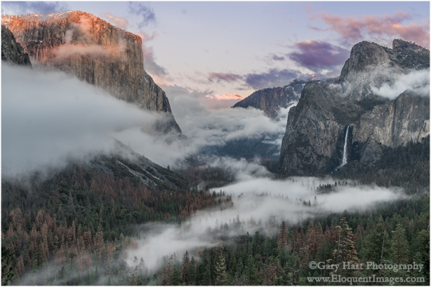Gary Hart Photography: Valley Fog, Tunnel View, Yosemite