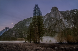 Gary Hart Photography: Nightfall, Half Dome and Sentinel Fall, Yosemite