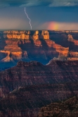Color and Light, Grand Canyon Lightning, Bright Angel Point
