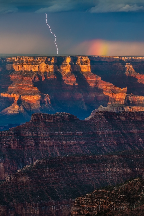 Gary Hart Photography: Color and Light, Grand Canyon Lightning, Bright Angel Point