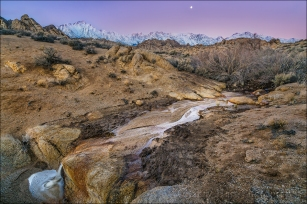 Gary Hart Photography: Winter Dawn, Mt. Whitney and the Alabama Hills, California