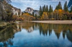 Gary Hart Photography: Autumn Mirror, Half Dome, Yosemite