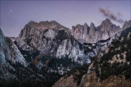 Gary Hart Photography: Twilight Crescent, Mt. Whitney