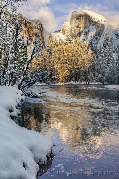 Gary Hart Photography: Frozen Reflection, Half Dome, Yosemite