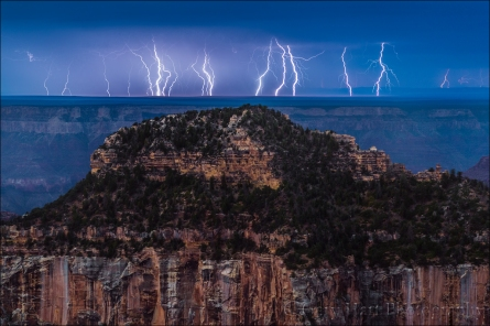 Gary Hart Photography: Electric Night, Grand Canyon Lodge, North Rim, Grand Canyon
