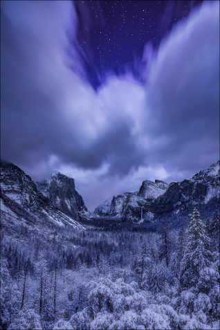 Gary Hart Photography: Silent Night, Yosemite Valley from Tunnel View