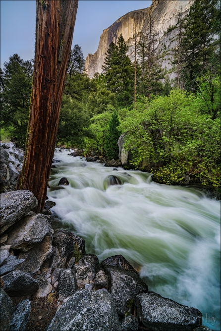 Gary Hart Photography: Half Dome and Tenaya Creek Rapids, Yosemite