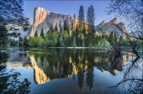 Gary Hart Photography: El Capitan and Three Brothers Reflection, Merced River, Yosemite