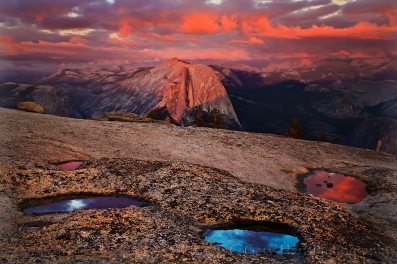 Gary Hart Photography: Sunset Palette, Half Dome from Sentinel Dome, Yosemite