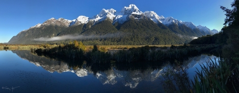 Gary Hart Photography: Mt. Eglinton, Mirror Lakes, New Zealand