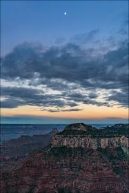 Gary Hart Photography: Setting Moon, Bright Angel Point, Grand Canyon