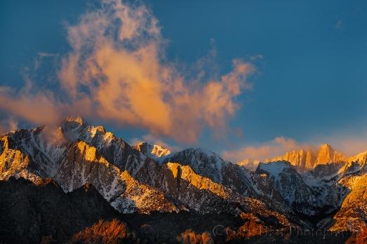 Gary Hart Photography: First Light, Lone Pine Peak and Mt. Whitney, Alabama Hills, Eastern Sierra